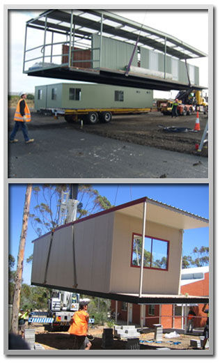 Some of our prefabricated buildings in Melbourne